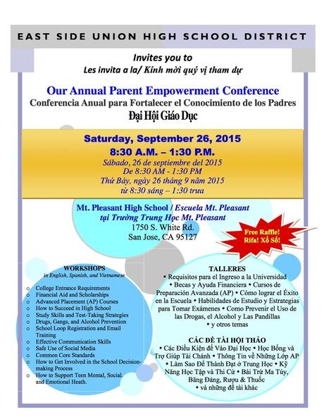 Our Annual Parent Empowerment Conference